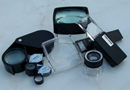 Magnifiers and jewelers loupes for pro applications or  hobby.
